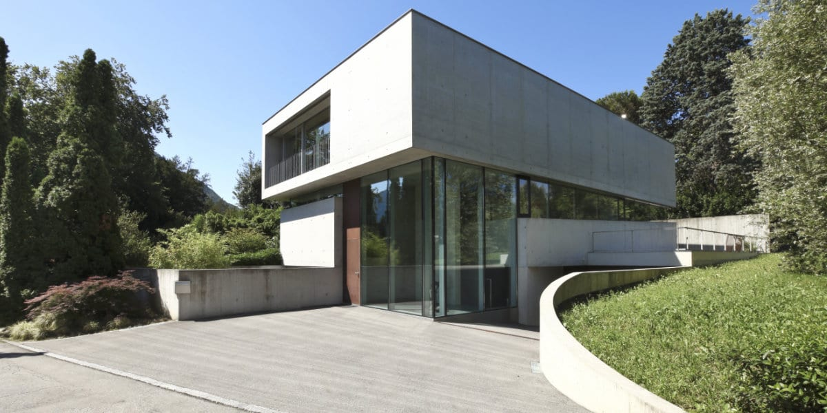 oprit geborsteld beton